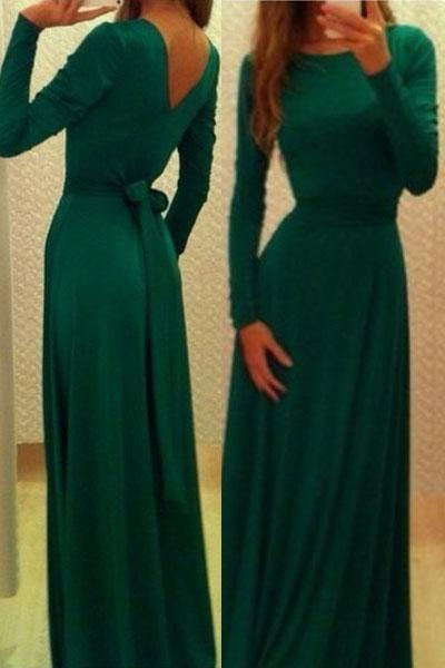 Зеленое платье с v образным вырезом