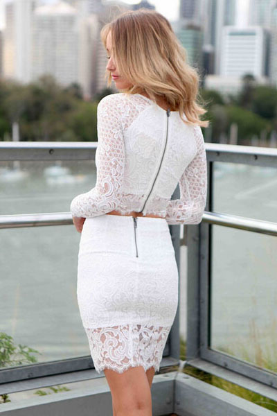 Короткая белая юбка с доставкой