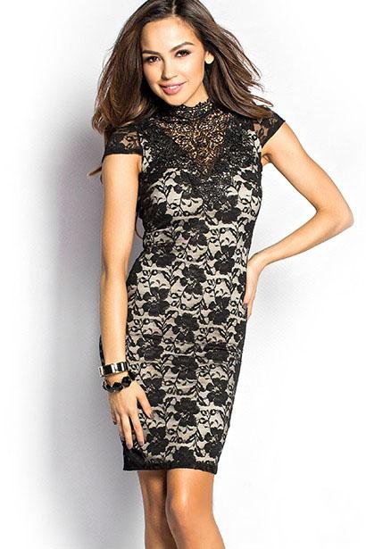 Черное платье с воротником доставка