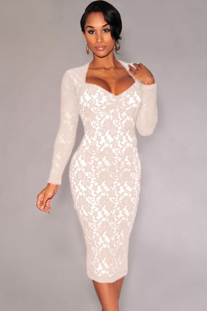 d53abc746327 Белое облегающее платье миди с ажурным узором - купить в Казани