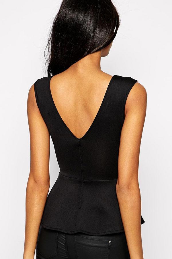 Черные брюки и черная блузка доставка
