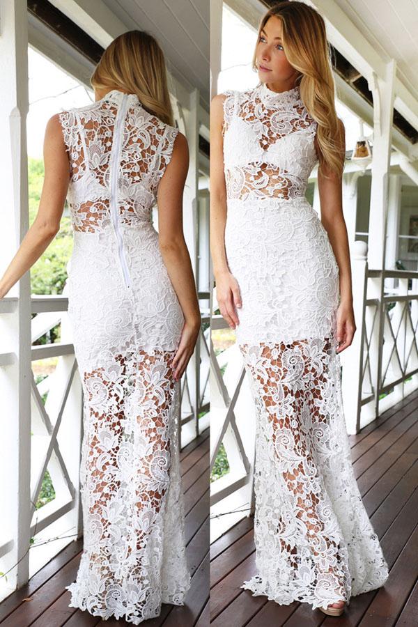 Платье белое прозрачное фото