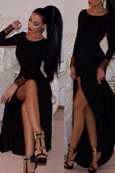 Юбки с разрезом и чулки фото