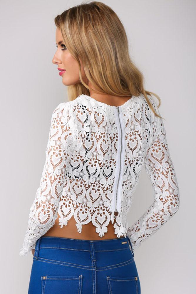Белая кружевная блузка доставка