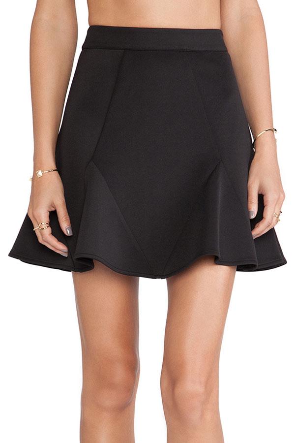 0ba775b6e1d Черная юбка с клиньями-вставками на подоле - купить наложенным платежом