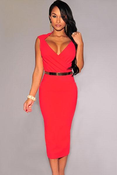 Купить платье с декольте недорого