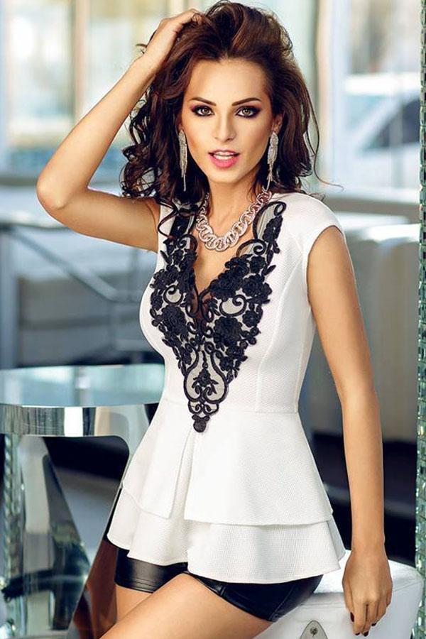 Белые блузки с кружевом доставка