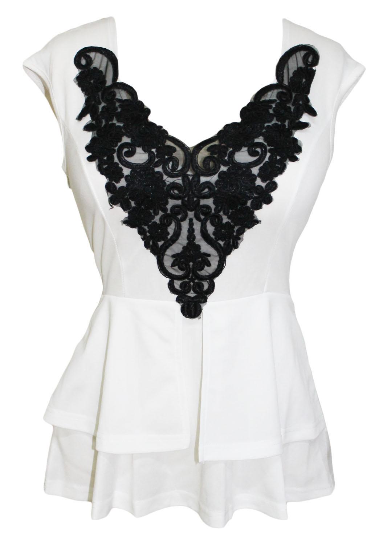 Белая блузка с баской доставка