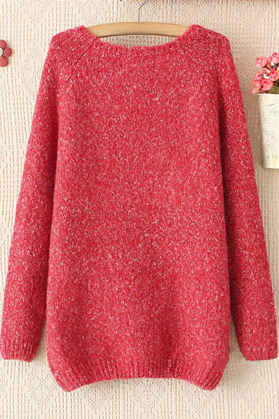 Red Snowflakes Elk Loose Turtleneck Sweater