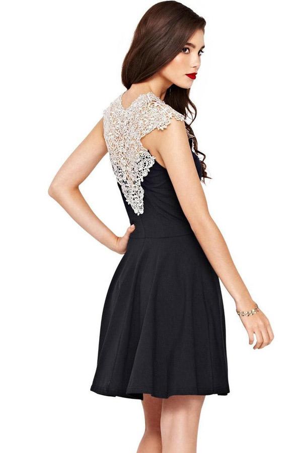Платье черное с белым доставка