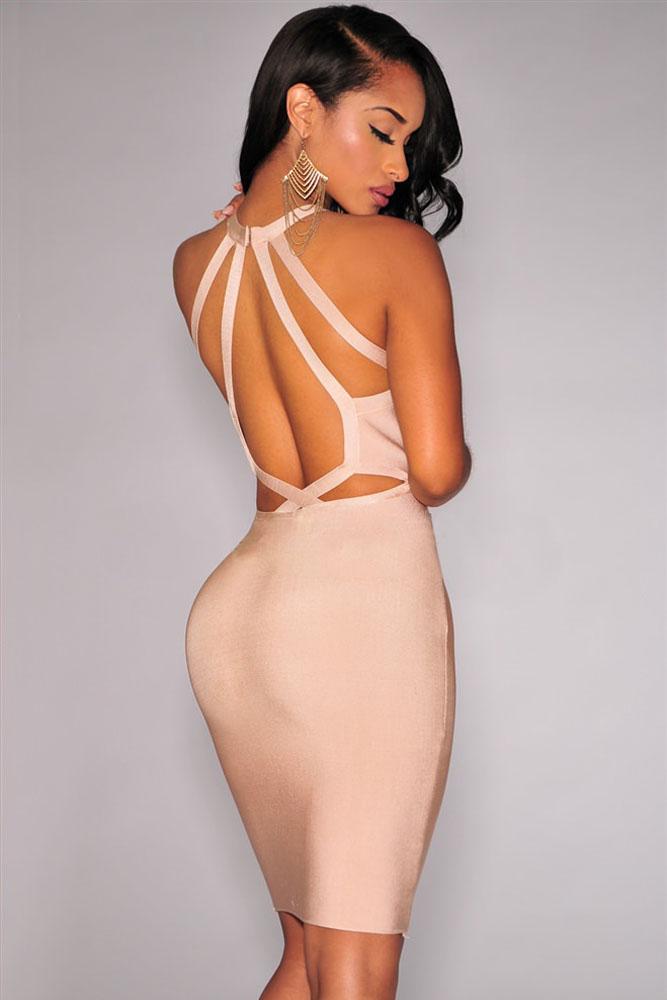 Платье Халтер С Открытой Спиной