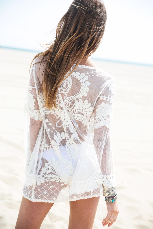 Белая пляжная туника доставка