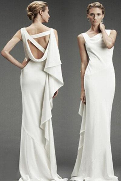 Белое платье в стиле Ампир с драпировкой на плече - купить ... e427aeea0c9