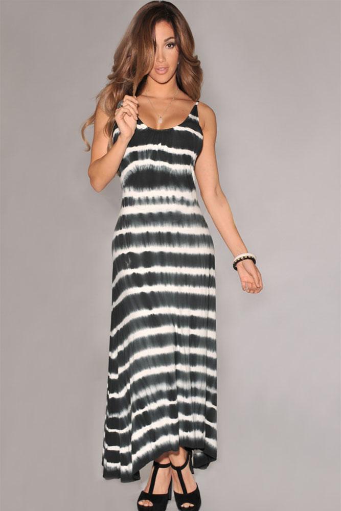 Черно-белое платье в пол с открытой спиной - купить наложенным платежом 8b467f7ff1c