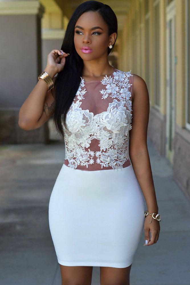 Телесное прозрачное платье