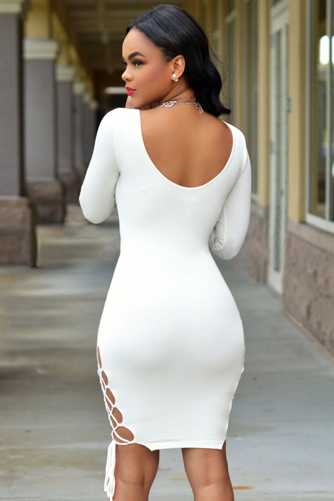 Платье белое обтягивающие