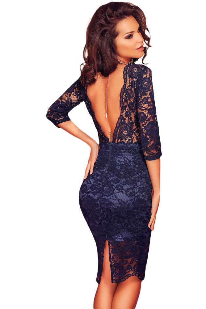 Фото кружевное платье с открытой спиной