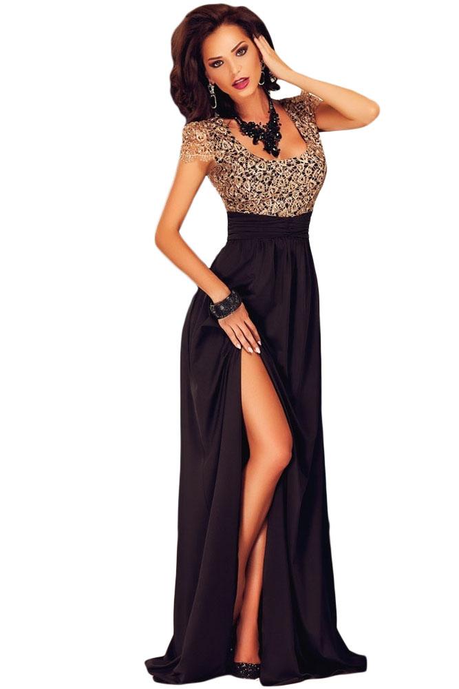 Чёрное шёлковое платье в пол