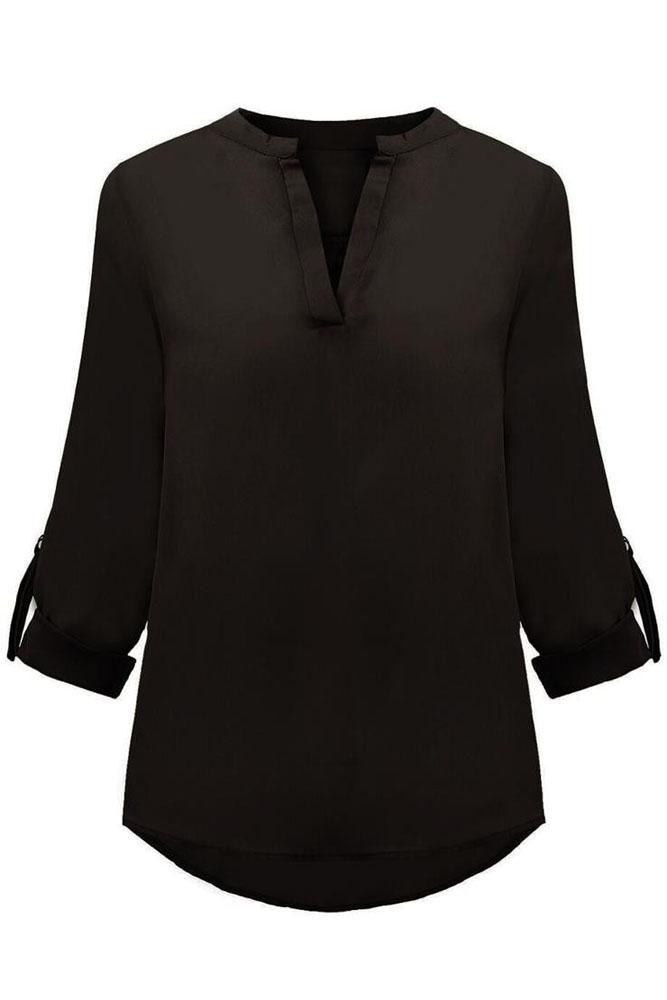 Черная шифоновая блузка с доставкой