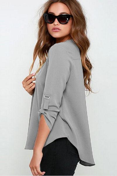 Блузка с v образным вырезом доставка