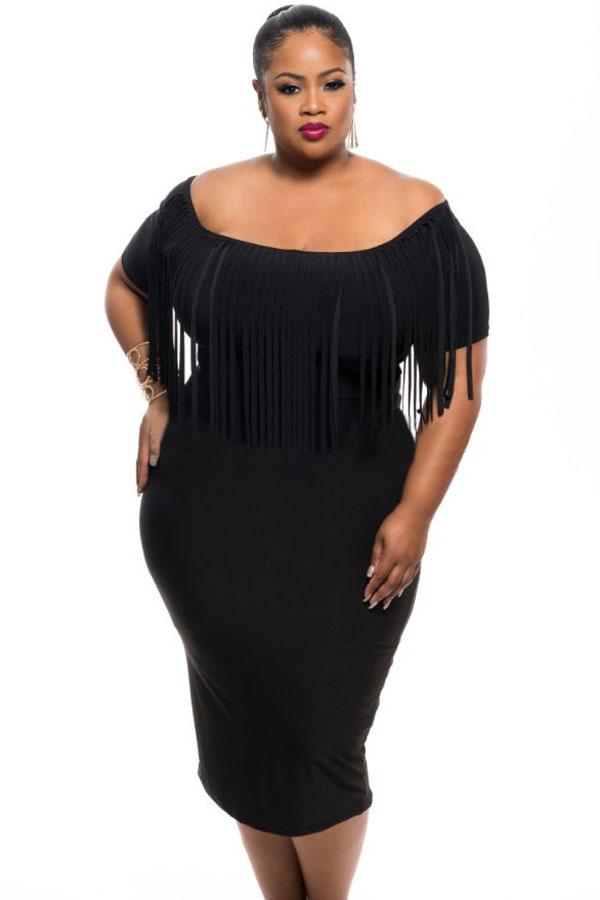 обтягивающее черное платье 5