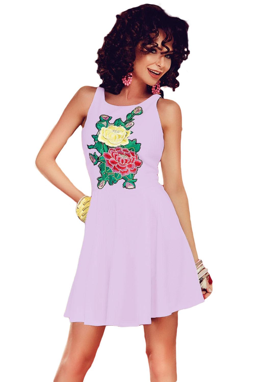 dbc46471e3965b7 Розовое платье на бретелях с цветочным принтом и плиссированной юбкой -  купить наложенным платежом