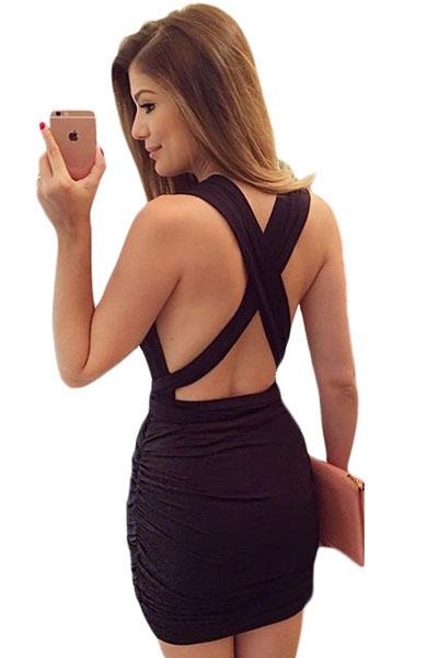 Ч рное секси платье
