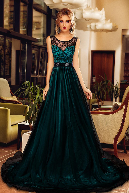 платье зеленое в пол фото