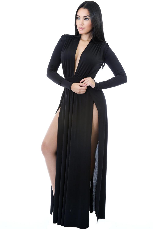 Платье С Двумя Разрезами На Бедрах