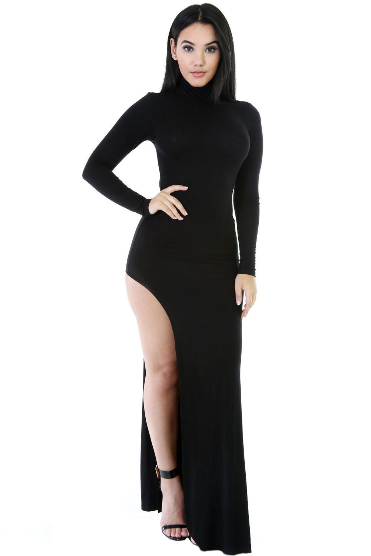 Купить платье с вырезом на ноге