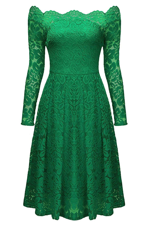 Зеленые Платья В Кружевах