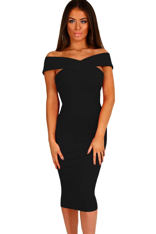 Бандажное платье черное