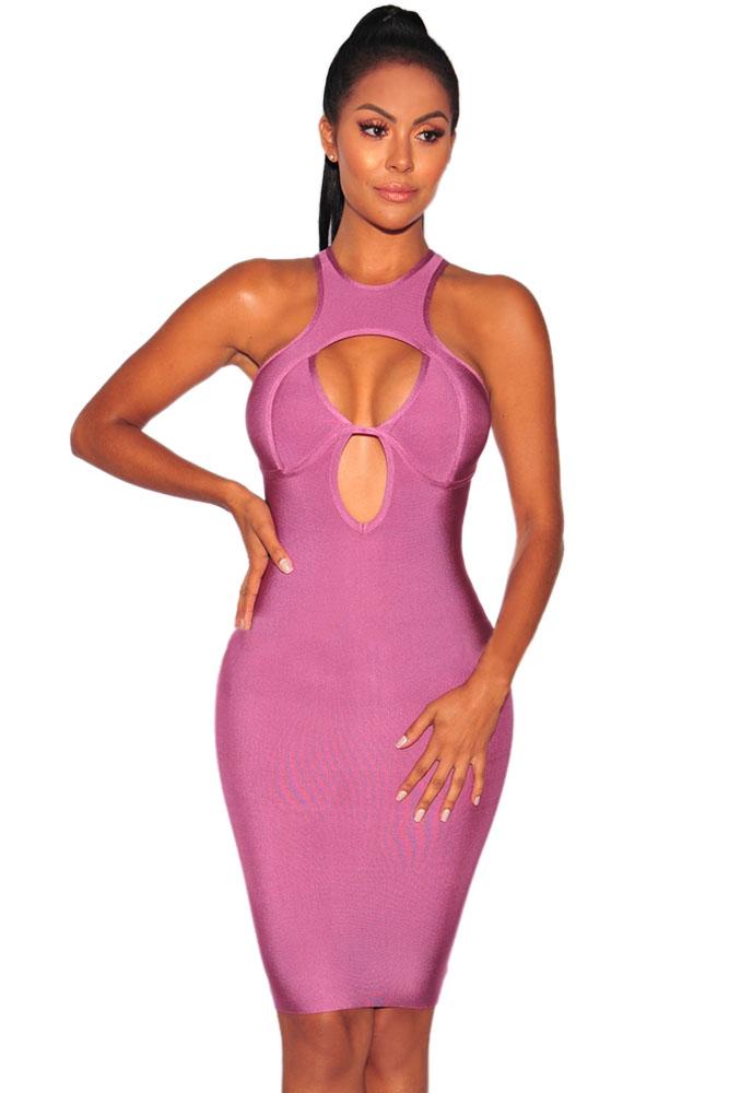 Платье в обтяжку розовое