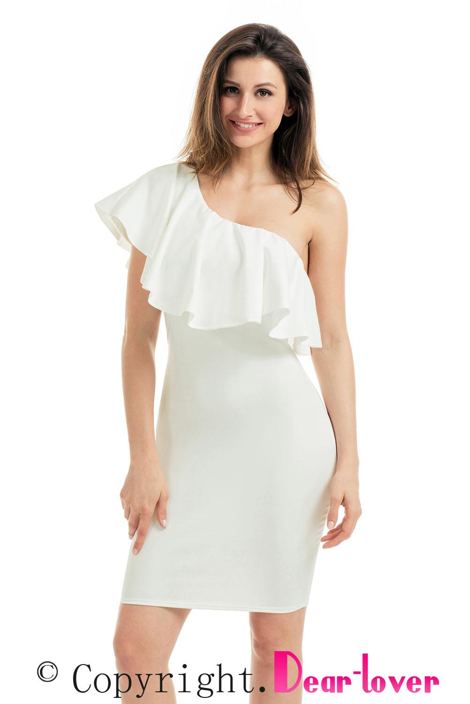 Купить белое платье на одно плечо