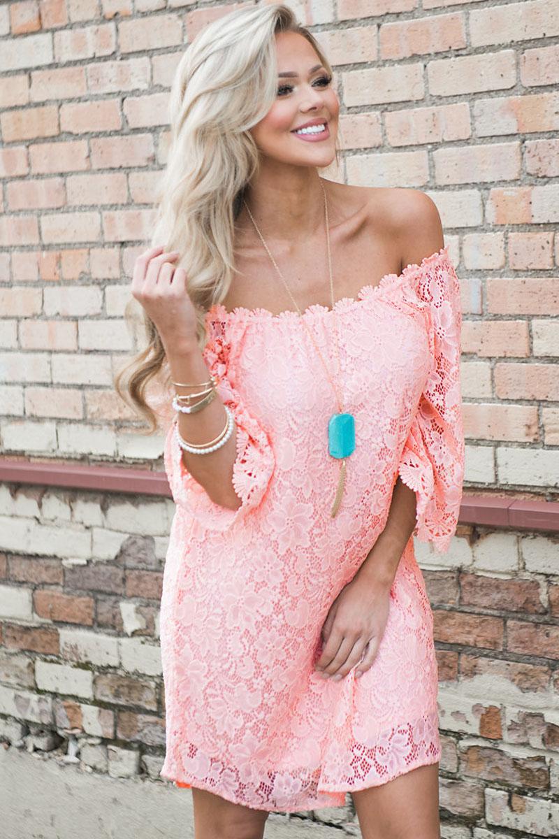 с чем носить розовое кружевное платье фото гамма формы