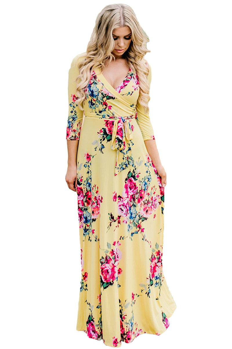 Цветное Платье С Запахом