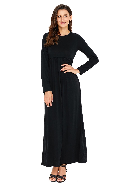 Черное Платье С Длинным Рукавом Купить
