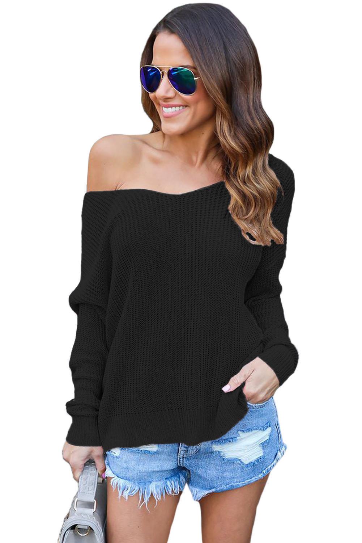 Пуловер С Глубоким Вырезом С Доставкой