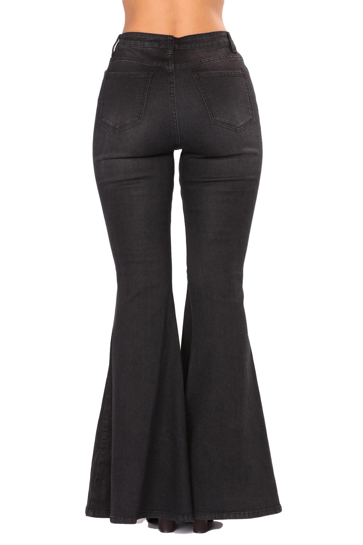 df4f0f2d935 Черные джинсы-клеш с длинными  молниями  спереди - купить в Санкт ...