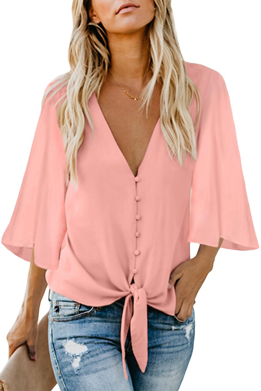 блузка с расширенными рукавами
