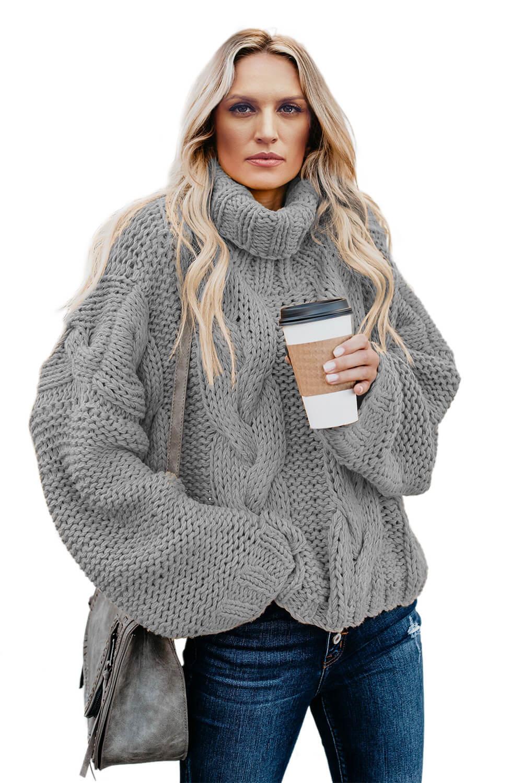 объемный свитер крупной вязки фото считается