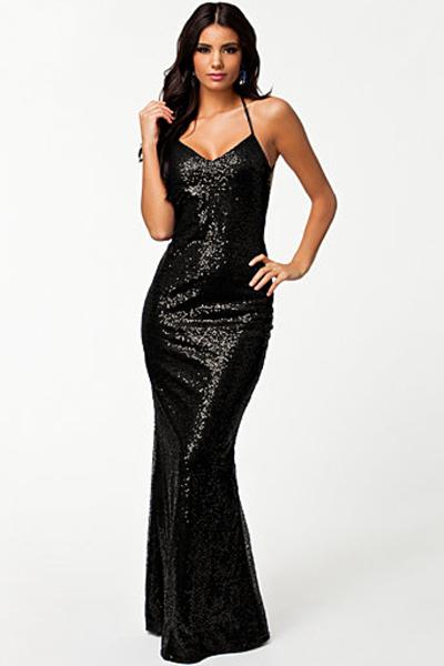 7ee24fec744 Черное блестящее платье  русалка  с открытой спиной - купить ...