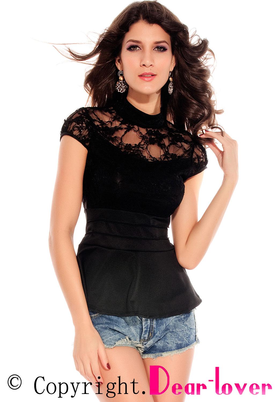 Черная кружевная блузка доставка