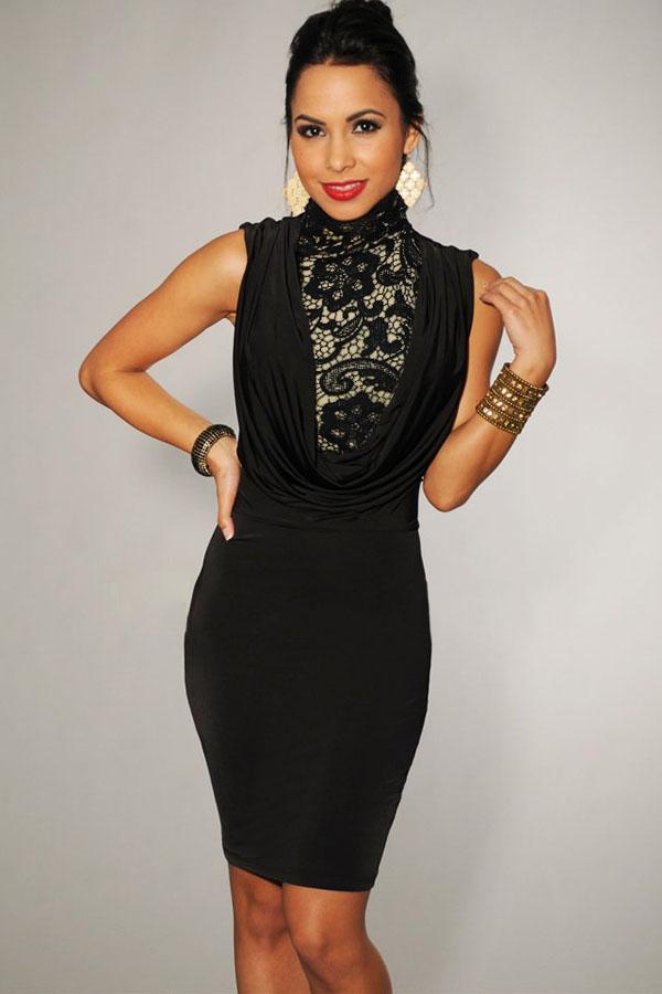 Платье Черное С Кружевом Доставка