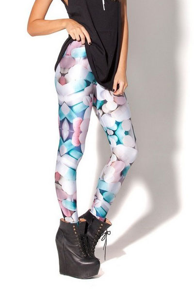 Fashionable Digital Print Pills Leggings