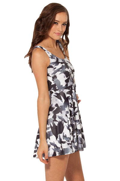 Flying Raven Flock Stylish Skater Dress