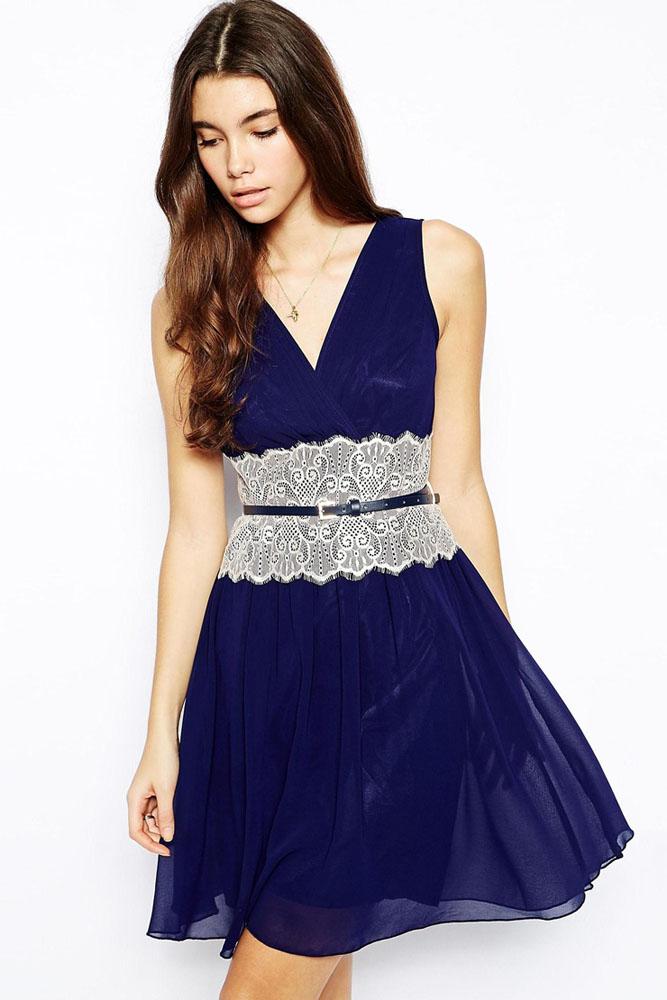 Платье синее с белым доставка
