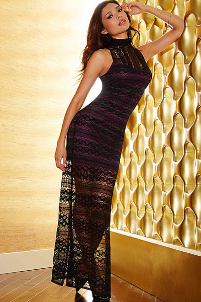 Вязания платья в пол