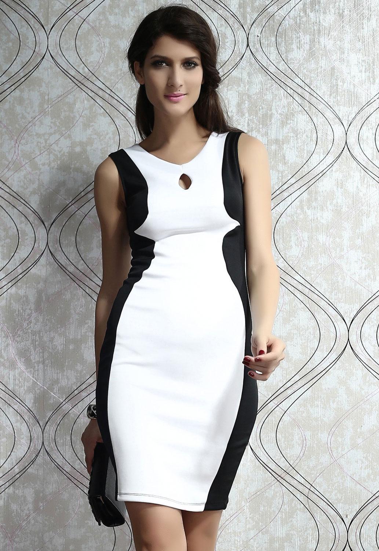 Платье с чёрными боками