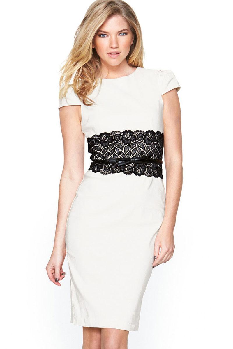 Пояс на платье с кружевом
